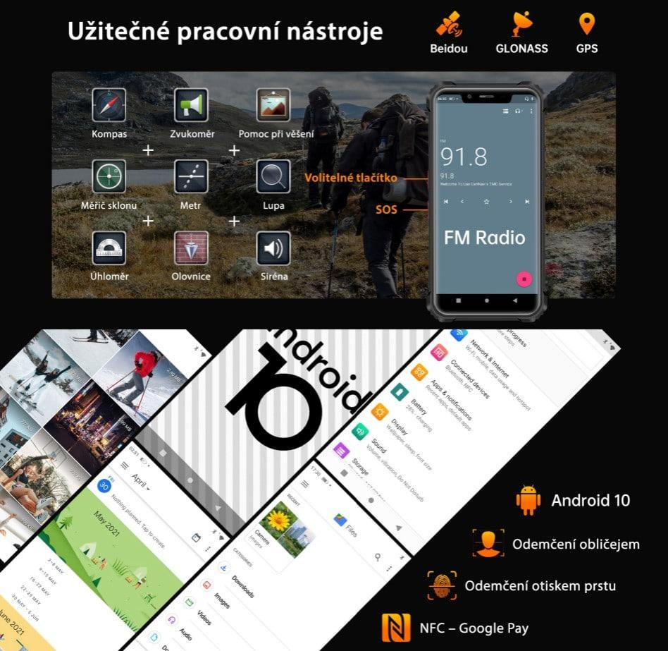 Oukitel WP9 systém Android