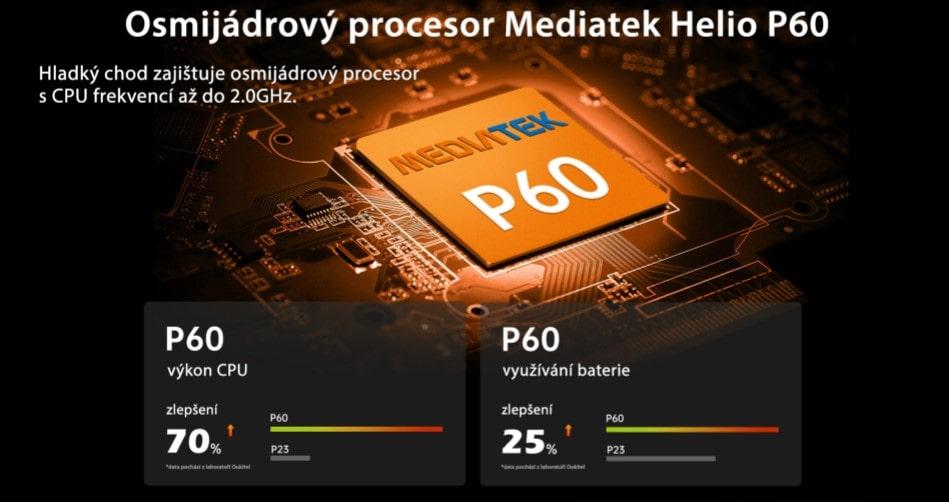 Oukitel WP9 výkon s P60 a 6GB RAM