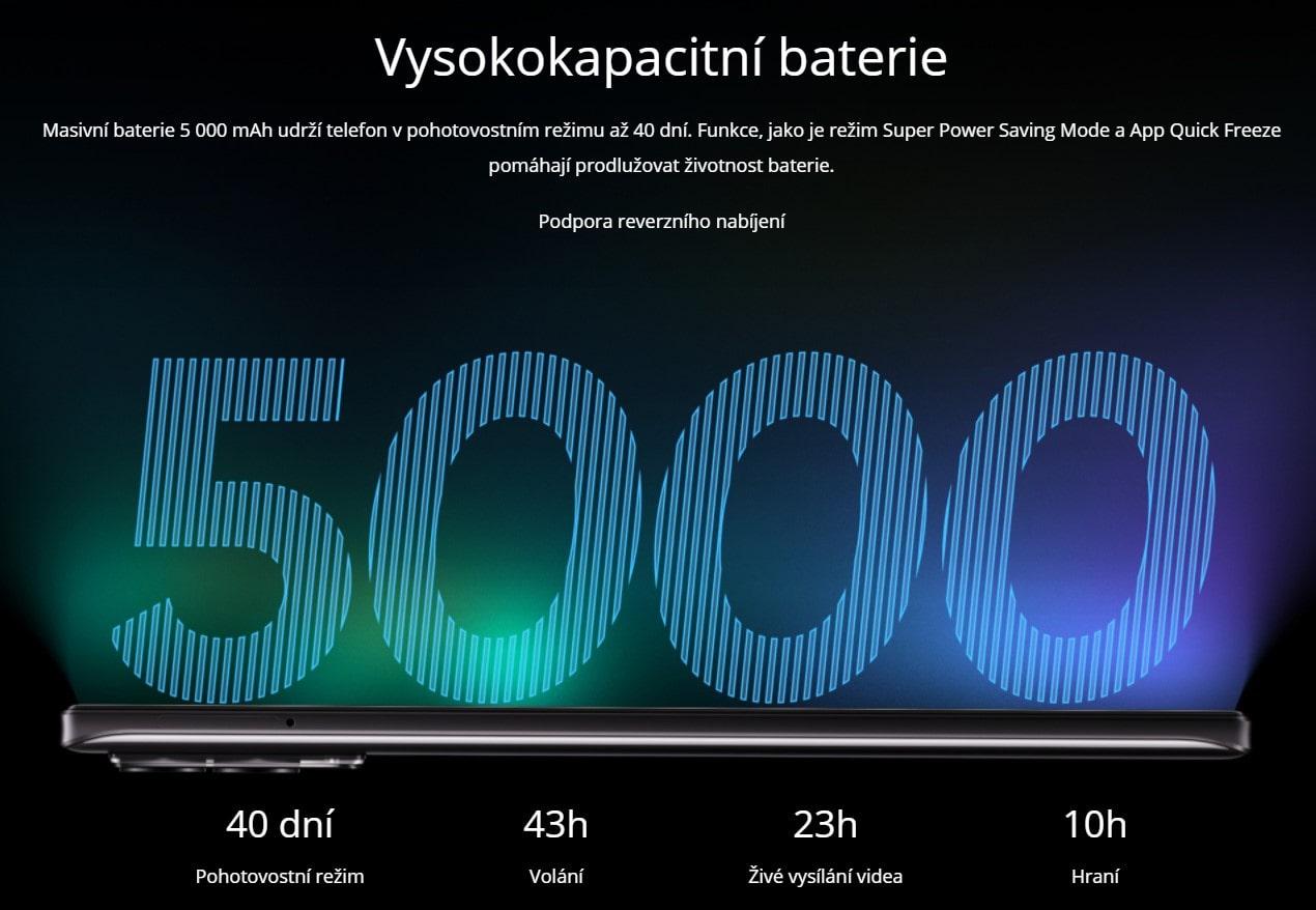 Realme 8 6GB/128GB baterie