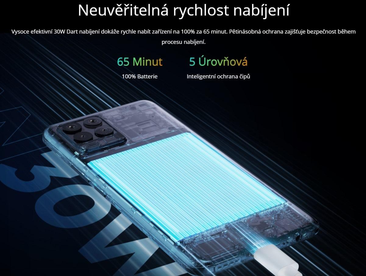Realme 8 6GB/128GB nabíjení