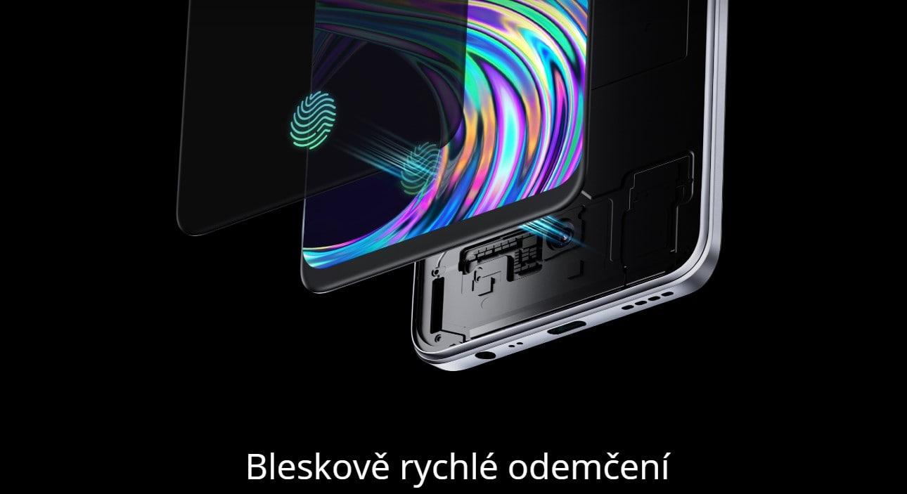 Realme 8 6GB/128GB čtečka otisku prstů v displeji