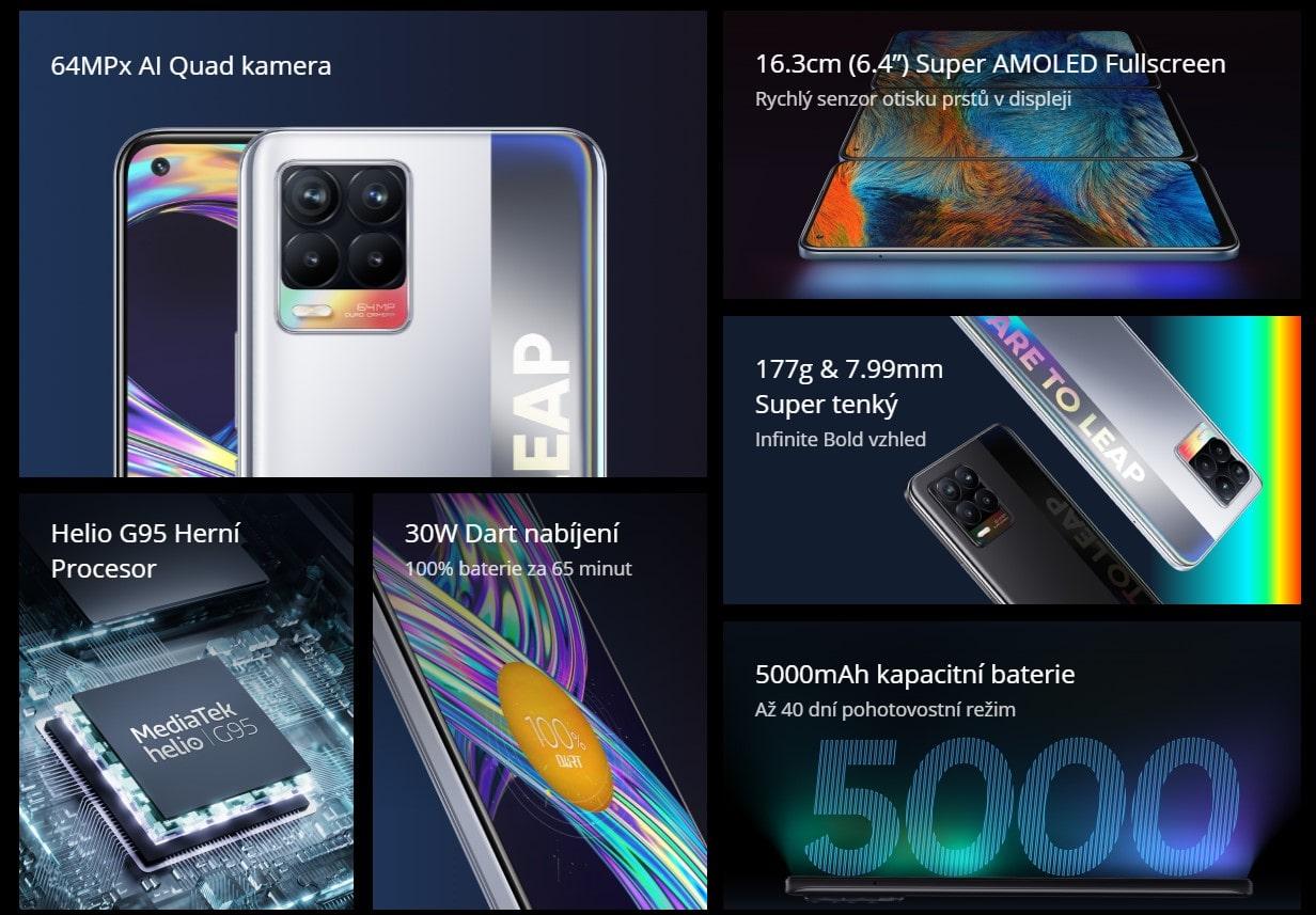 Realme 8 6GB/128GB parametry