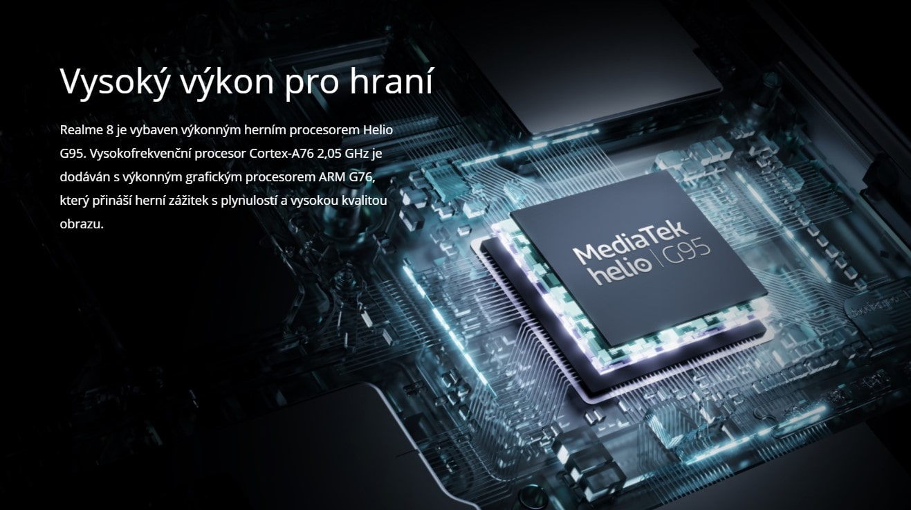 Realme 8 6GB/128GB procesor