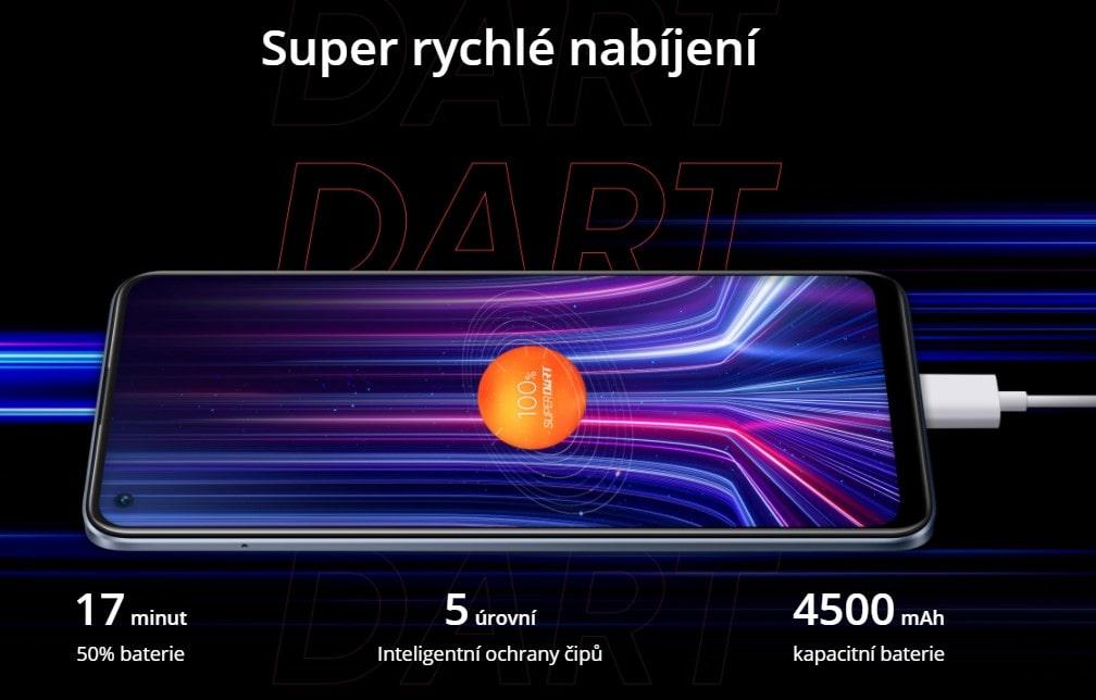 Realme 8 Pro super dart nabíjení