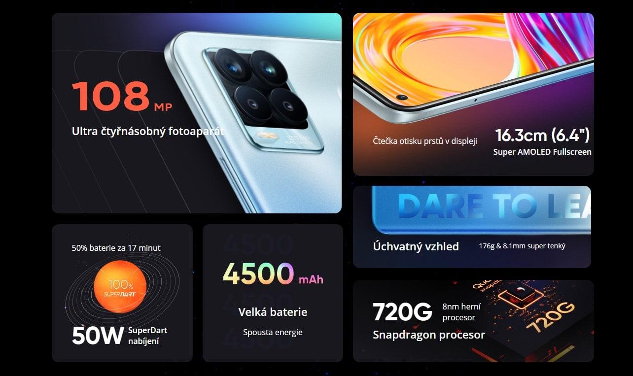 Realme 8 Pro s 8GB parametry