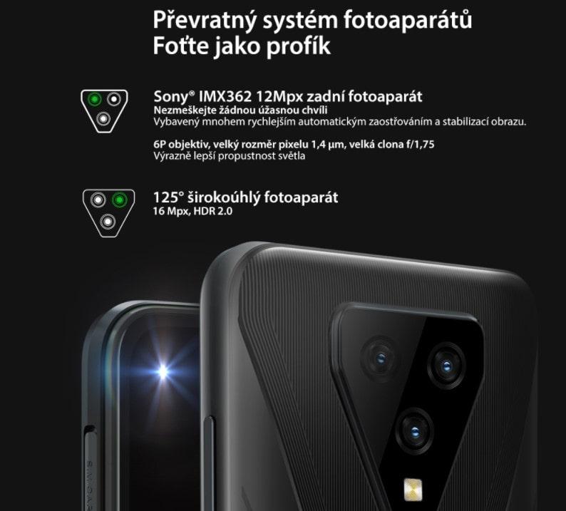 iGET Blackview GBL5000 zadní kamera