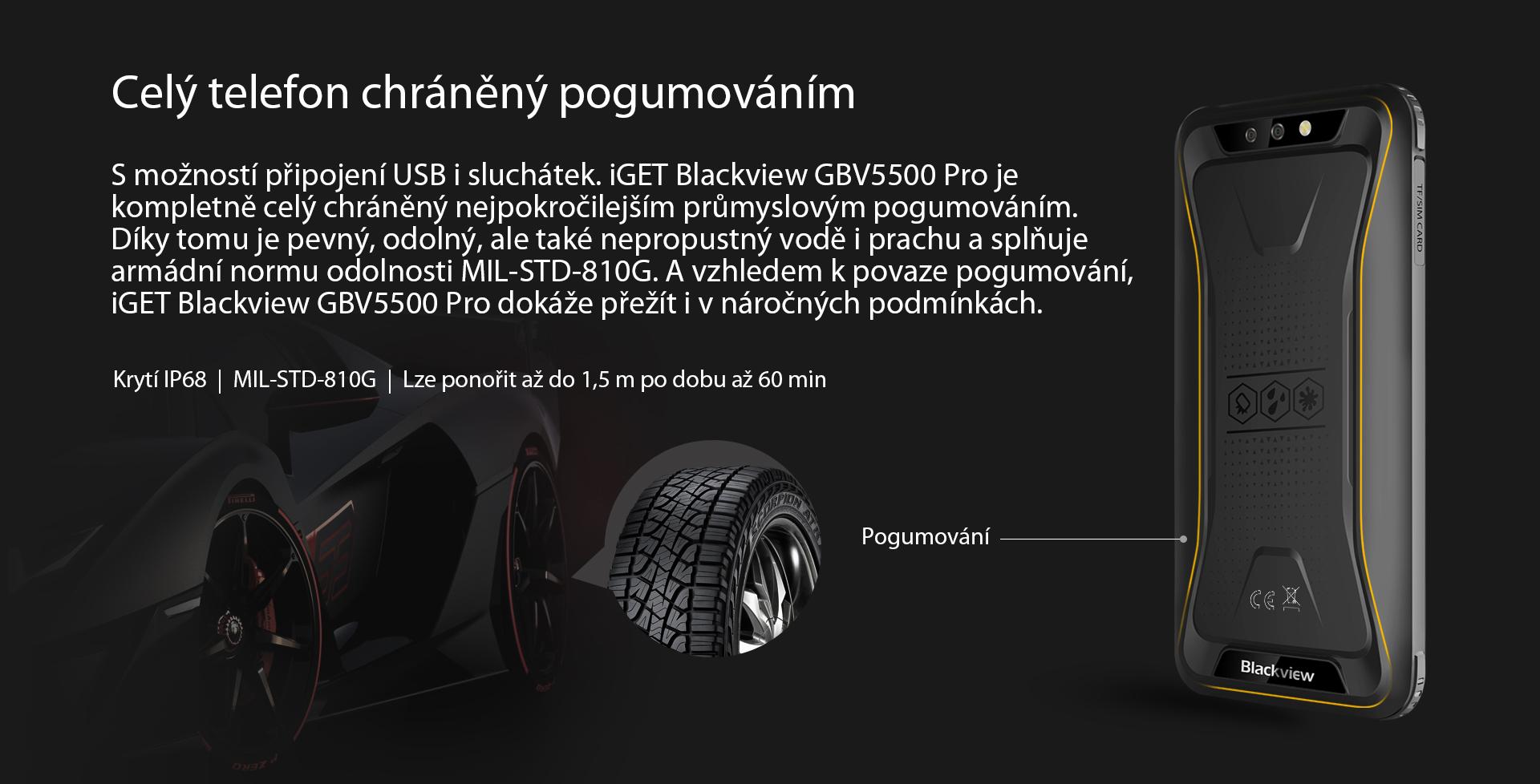 GBV5500 Pro odolnost