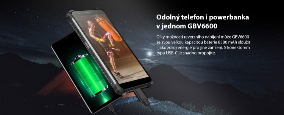iGET Blackview GBV6600 reverzní nabíjení