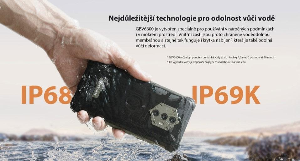 iGET Blackview GBV6600 odolnost IP69K