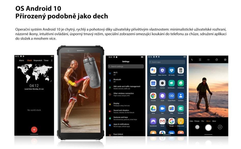 iGET Blackview GBV6600 operační systém Android 10