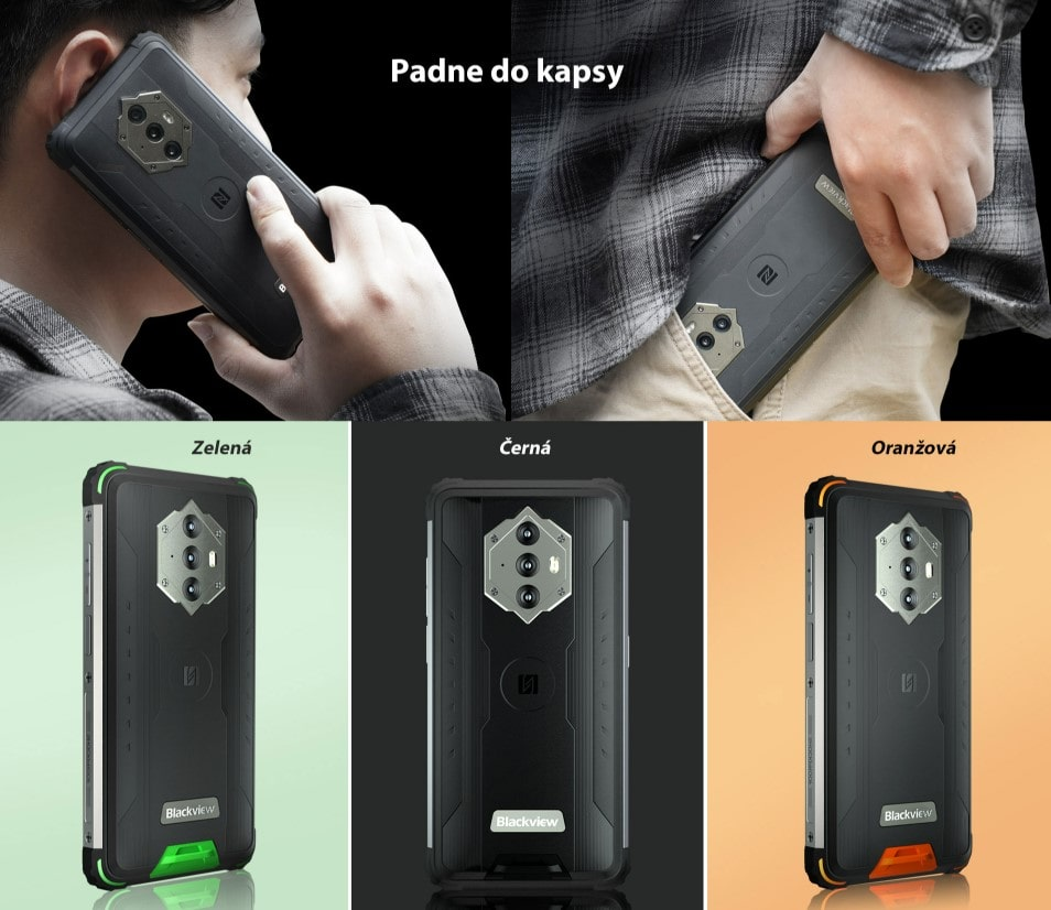iGET Blackview GBV6600 vzhled telefonu