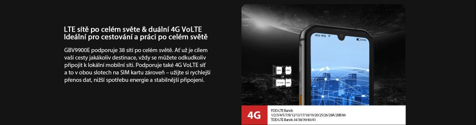GBV9900E mobilní internet