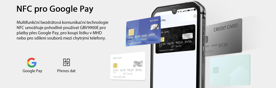 GBV9900E bezkontaktní NFC platby