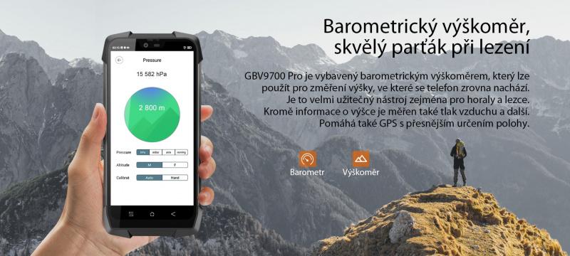 iGET Blackview GBV9700 Pro barometr