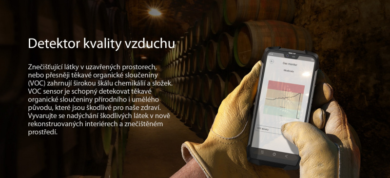 iGET Blackview GBV9700 Pro voc senzor kvality vzduchu