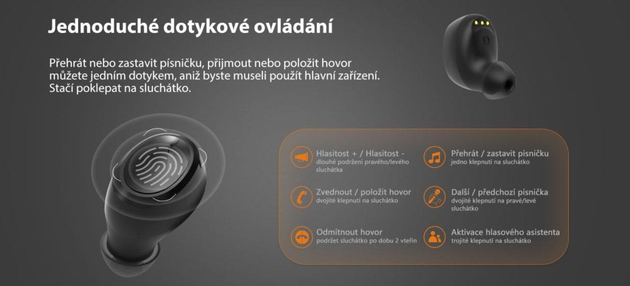 iGET Blackview Airbuds G2 dotykové ovládání