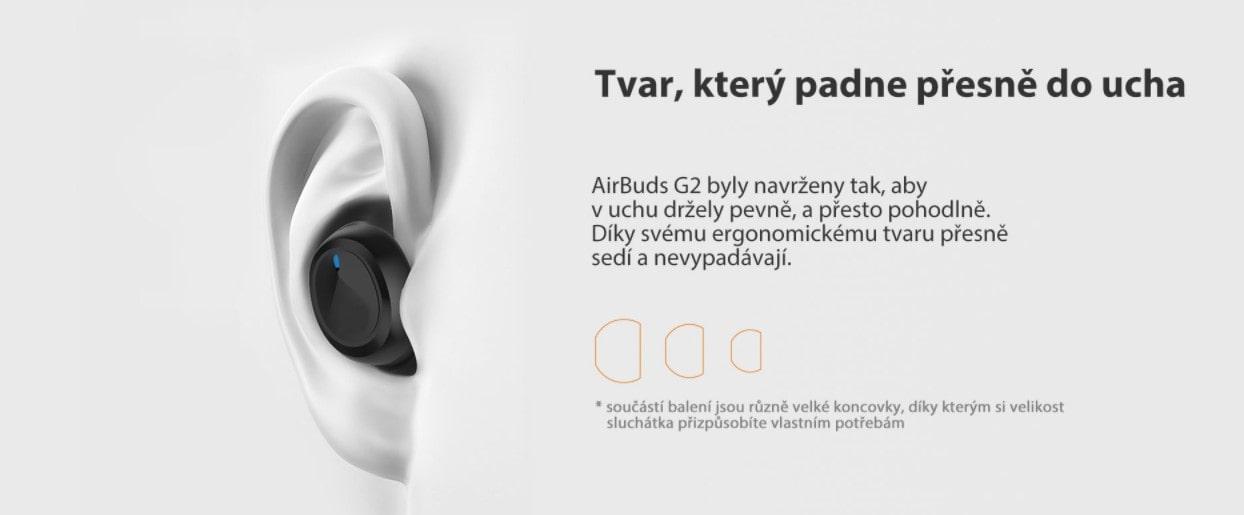 iGET Blackview Airbuds G2 tvar sluchátek