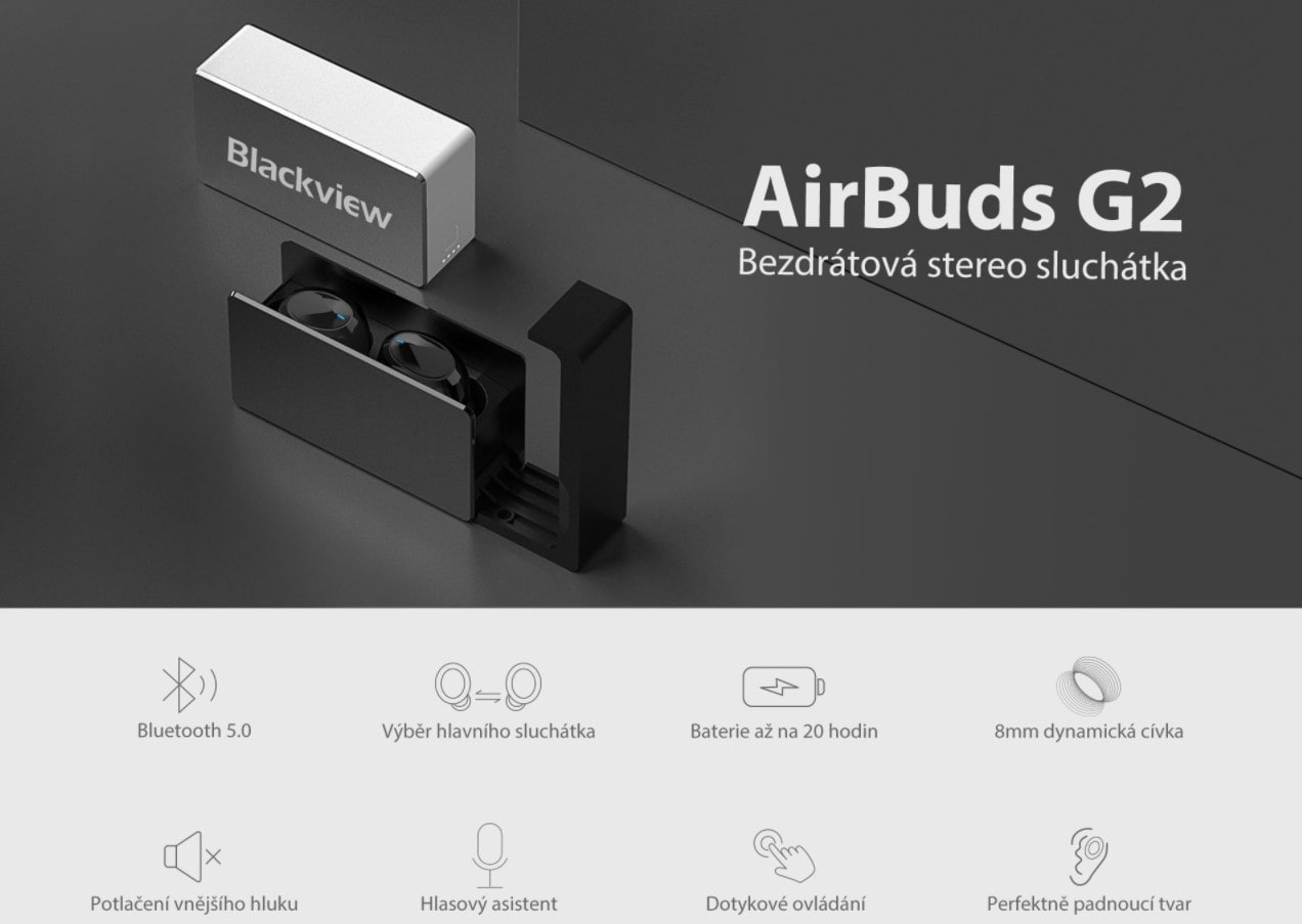 iGET Blackview Airbuds G2 vzhled a parametry