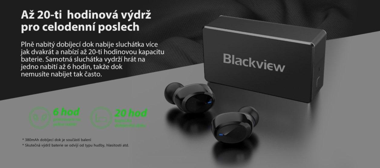 iGET Blackview Airbuds G2 výdrž sluchátek a krabičky