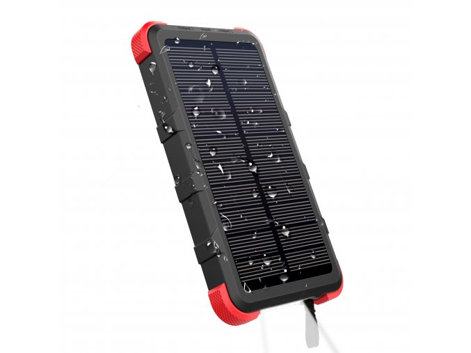 Outxe savage ip67 solar phone charger 10000mah rugged power bank