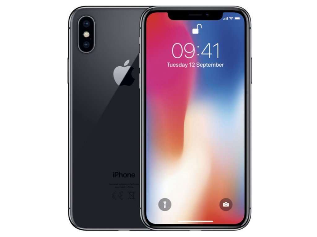 "Apple iPhone X 64GB Space Gray ""B GRADE"""