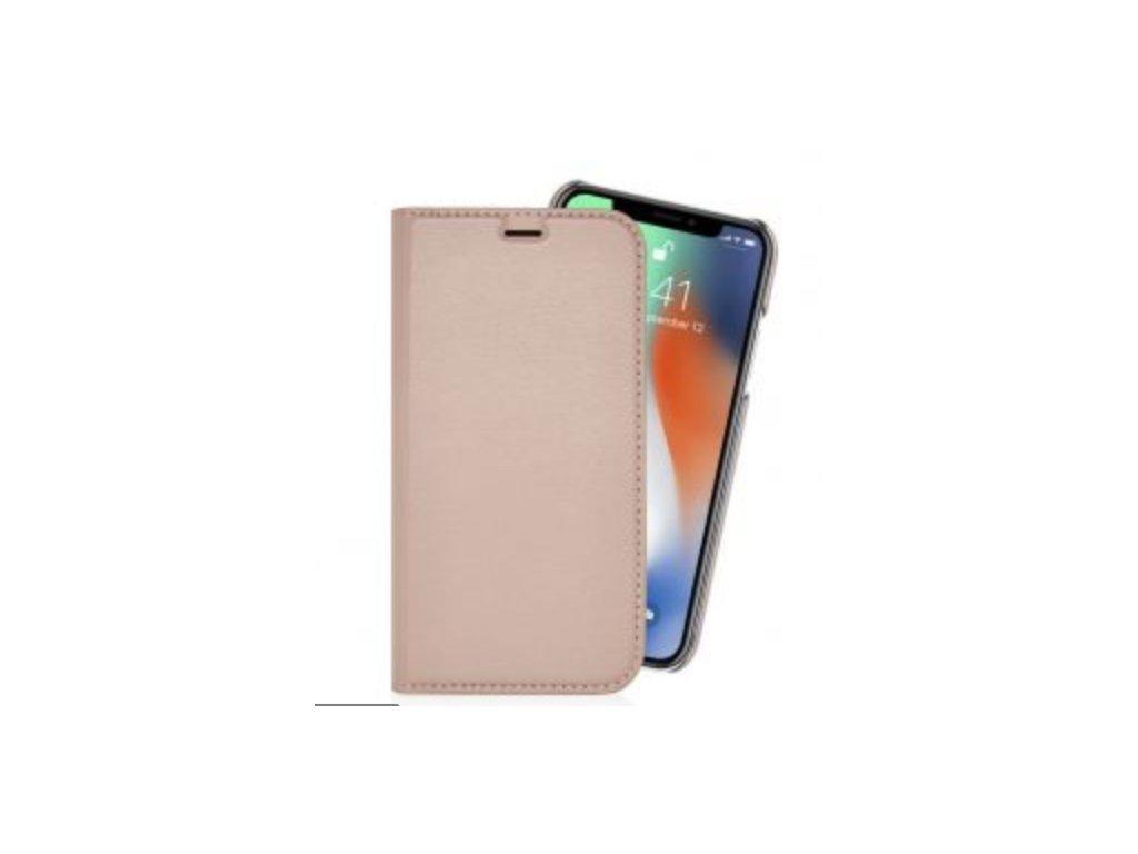 Pipetto kožené pouzdro 2v1 Magnetic wallet pro iPhone X/XS - růžová