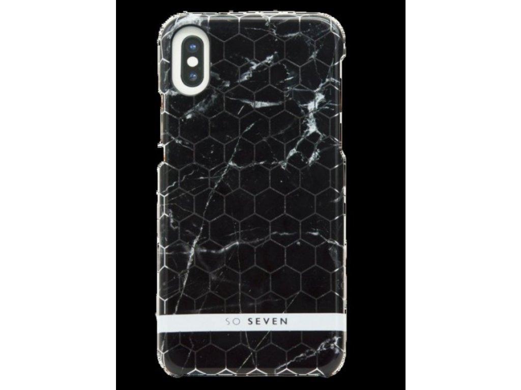 SoSeven Milan Case Hexagonal Marble Black Kryt černý pro iPhone X/XS