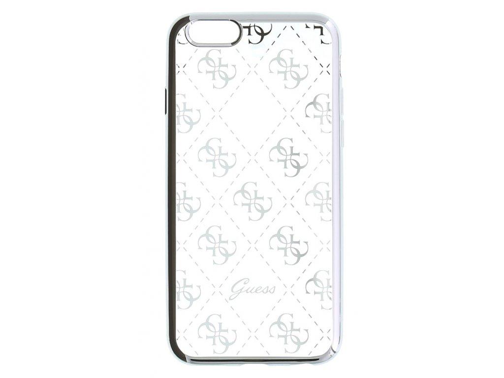 Guess 4G TPU Pouzdro Silver pro iPhone 6/6S