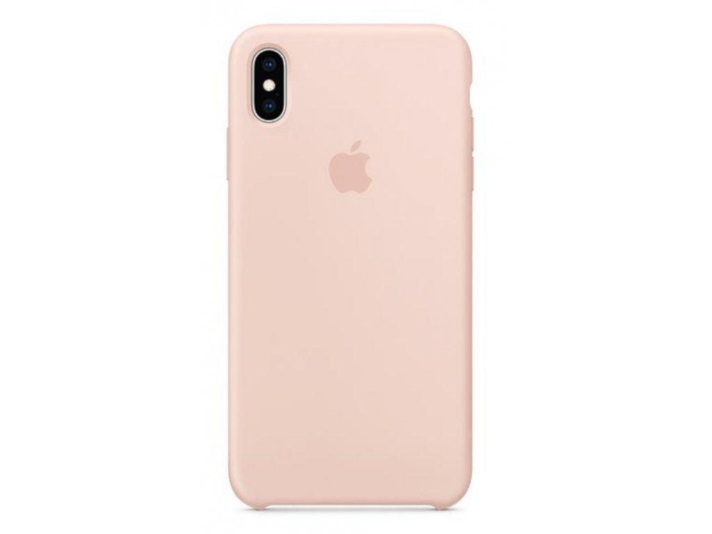 Kryt na mobil Apple Silicone Case pro iPhone XS Max - pískově růžový
