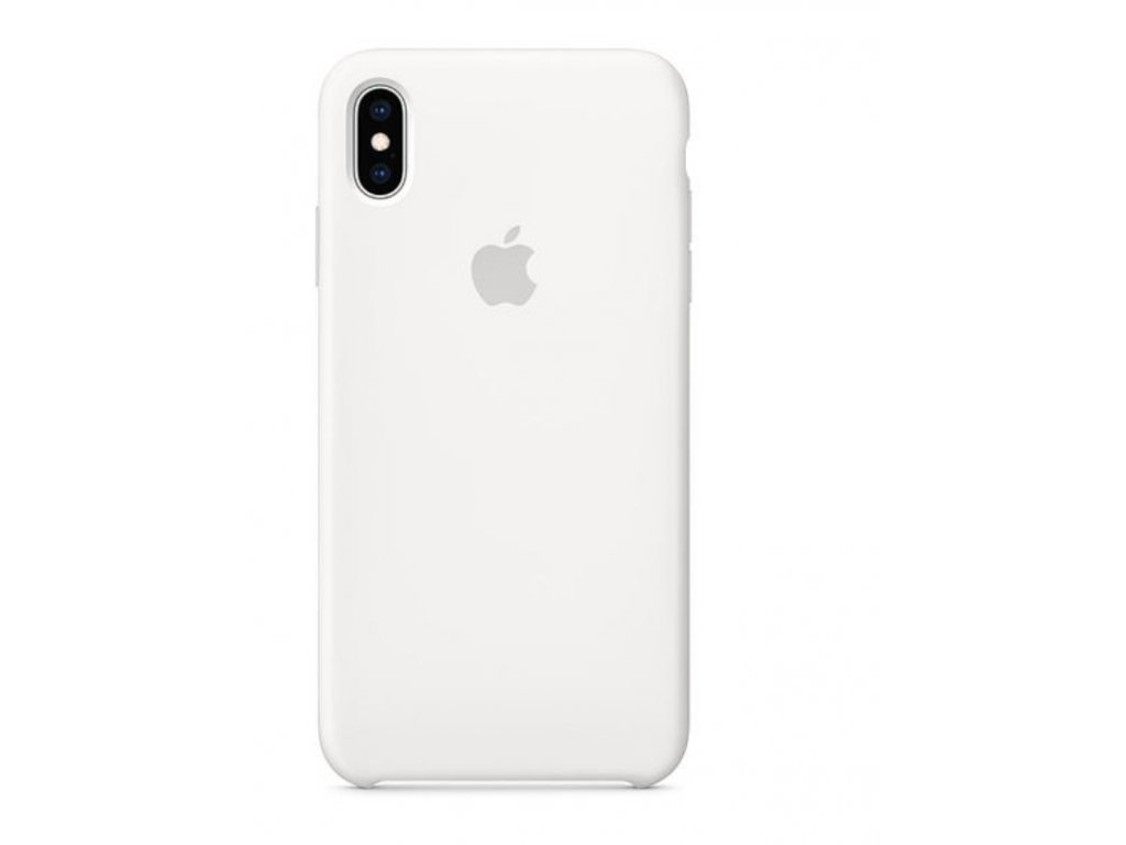 Kryt na mobil Apple Silicone Case pro iPhone XS Max bílý