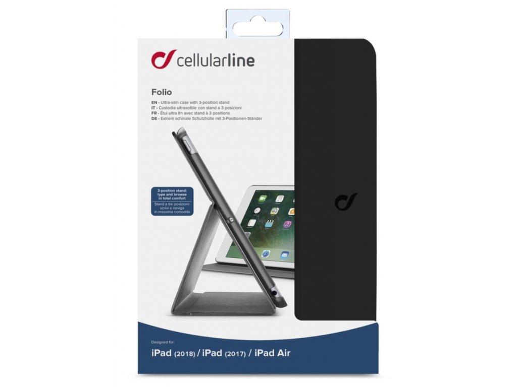 "CellularLine Folio pouzdro pro Apple iPad 9,7"" (2018,2017, Air) černé"