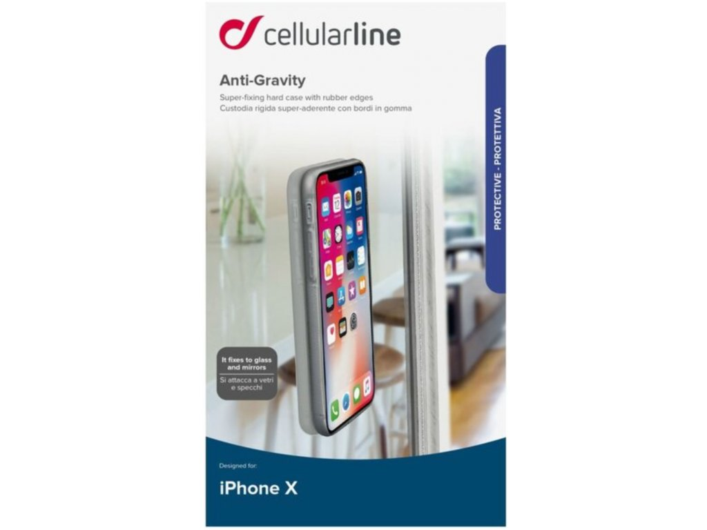 Cellularline ANTI-GRAVITY adhezivní kryt Apple iPhone X/XS