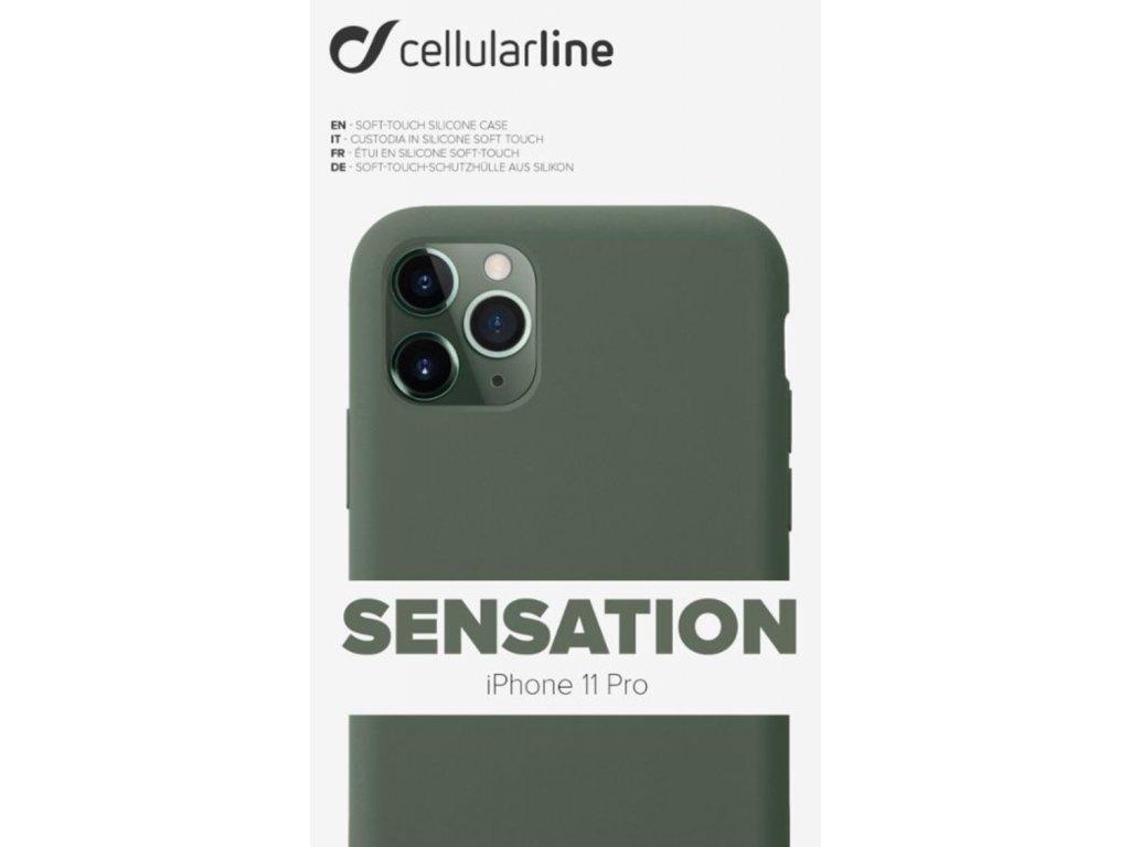 Kryt na mobil CellularLine SENSATION na Apple iPhone 11 Pro zelený