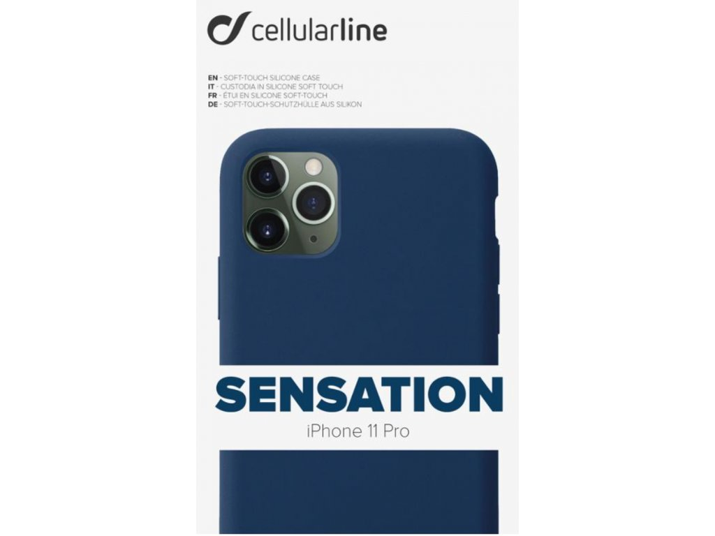 Kryt na mobil CellularLine SENSATION na Apple iPhone 11 Pro modrý