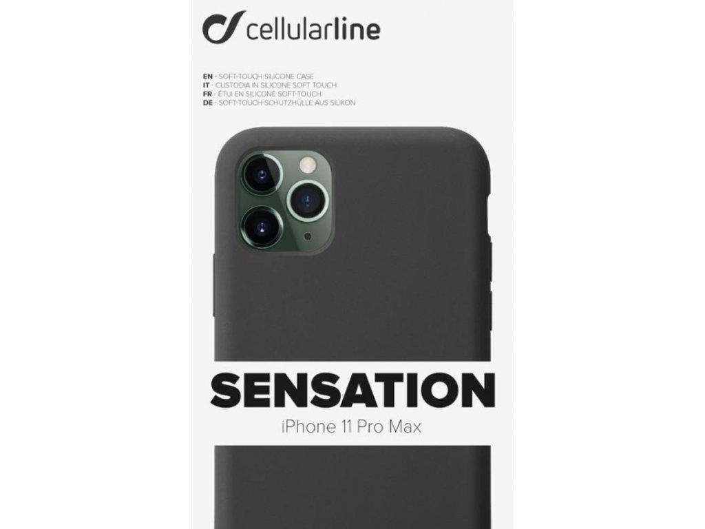 Kryt na mobil CellularLine SENSATION na Apple iPhone 11 Pro Max černý