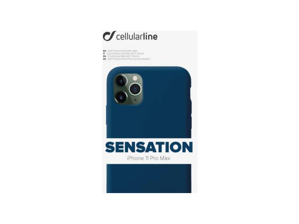 Kryt na mobil CellularLine SENSATION na Apple iPhone 11 Pro Max modrý
