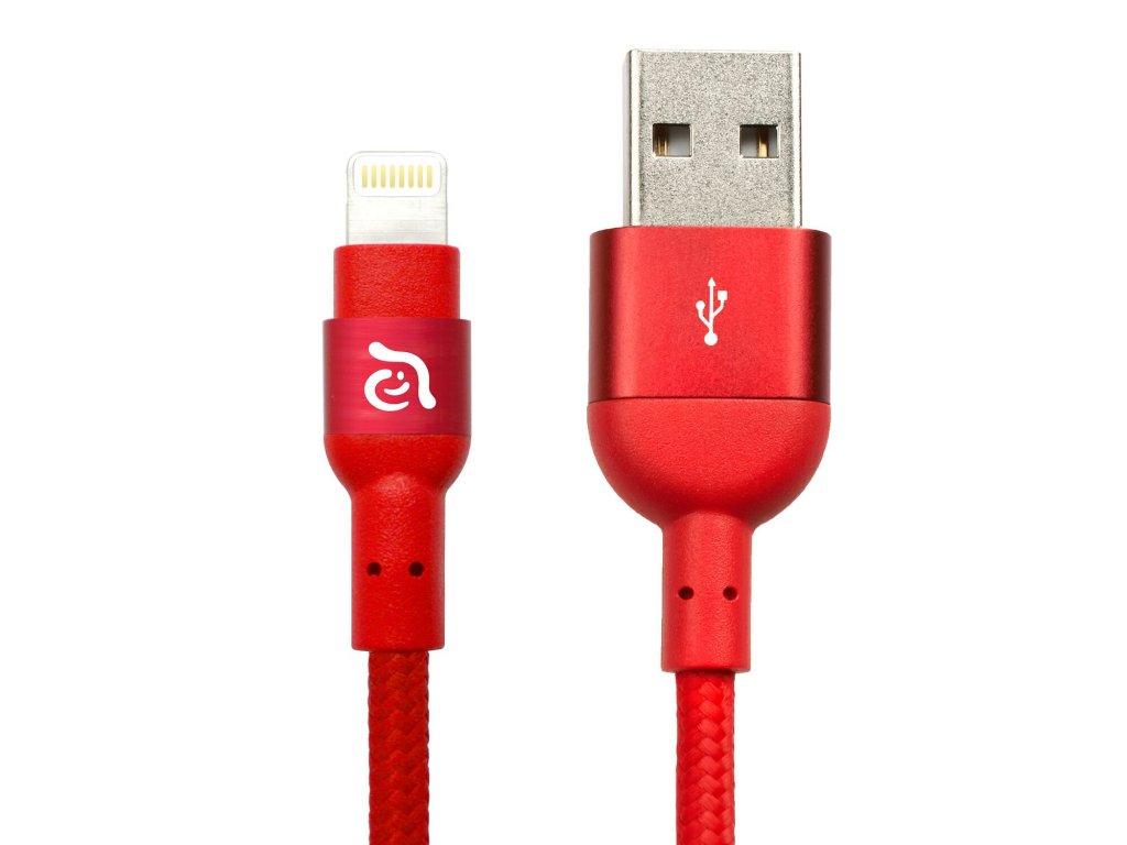 Adam Elements PeAk 200B Red – USB kabel s Lightning konektorem