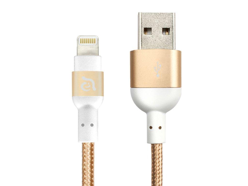 Adam Elements PeAk 120B Gold – USB kabel s Lightning konektorem