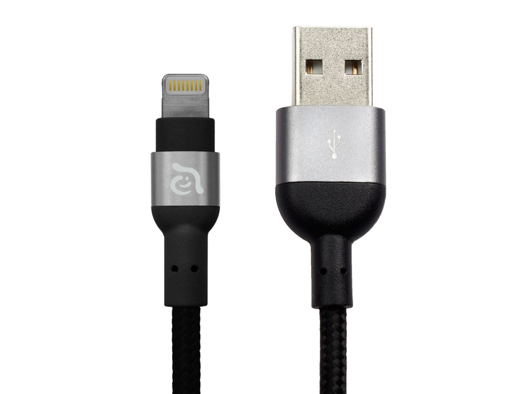 Adam Elements PeAk 300B Black – USB kabel s Lightning konektorem
