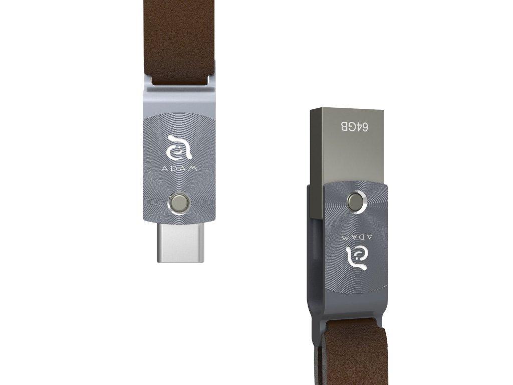 Adam Elements Roma flash disk s USB-C/USB Black 3.1 64GB