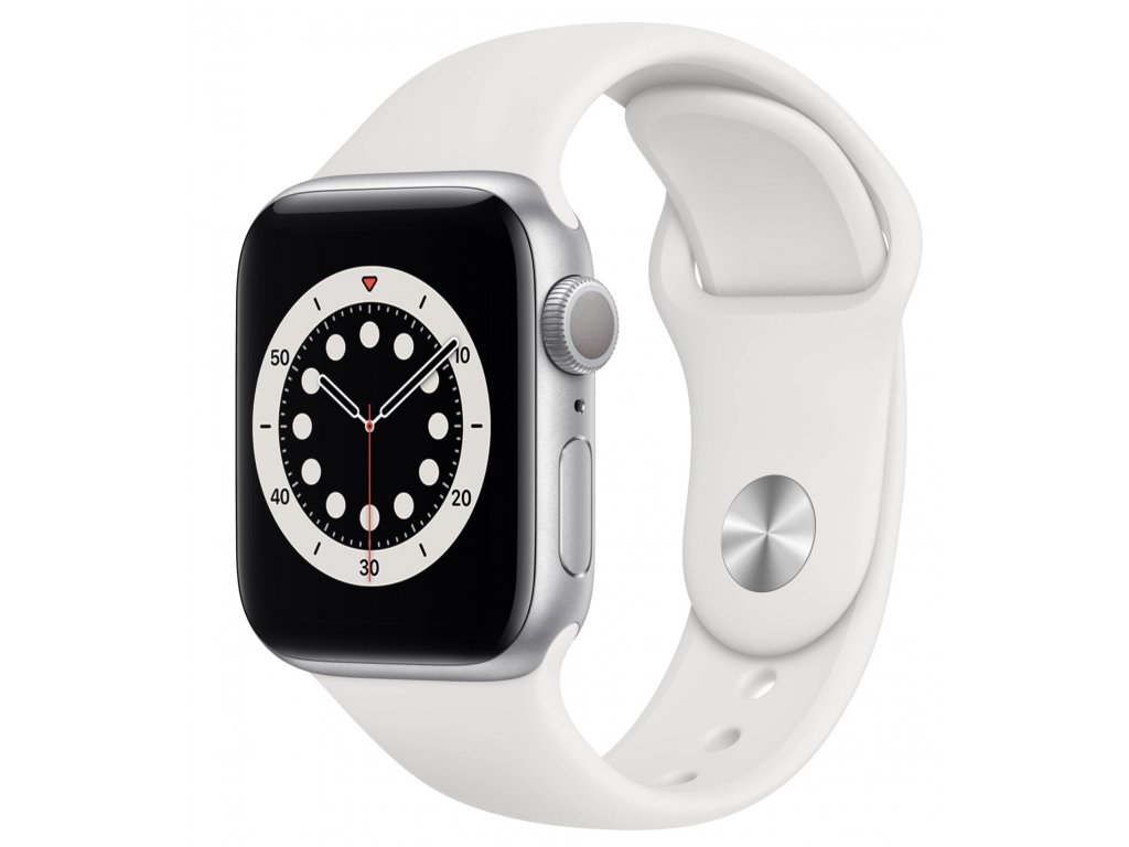 Apple Watch Series 6 GPS, 40mm Silver Aluminium Case with White Sport Band 2