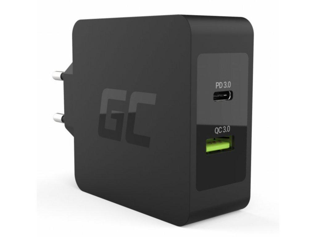 Nabíječka USB-C 30W PD s port USB QC3.0 a kabel USB-C pro Apple