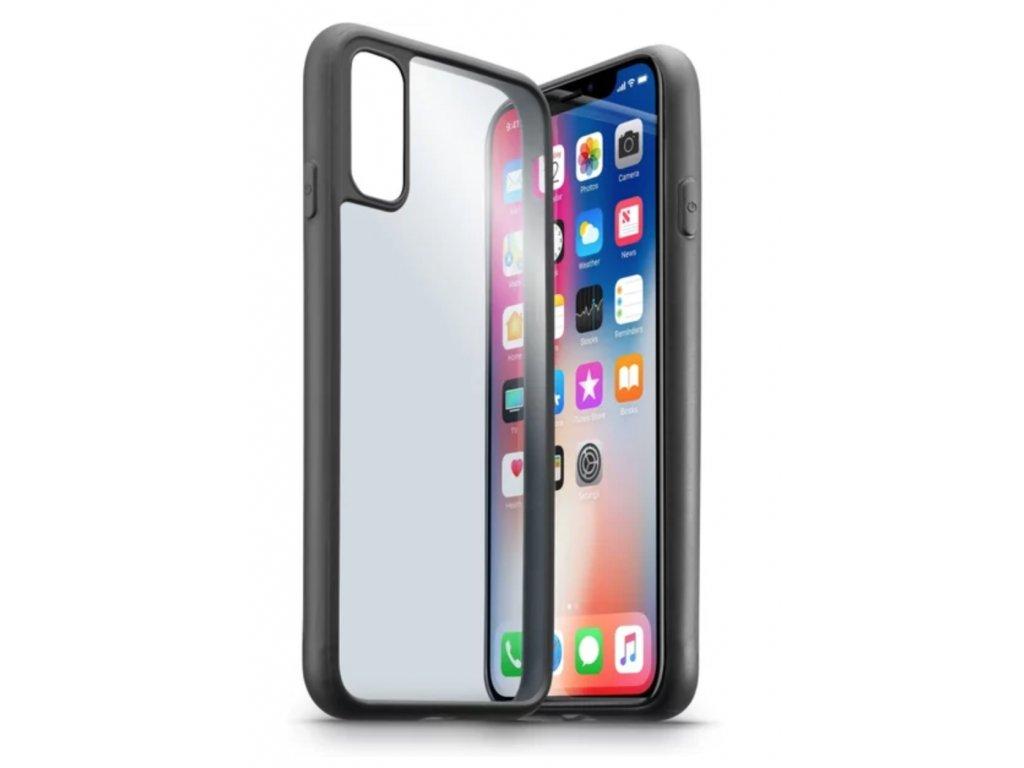 CellularLine pouzdro s průhlednými zády Apple iPhone X černé