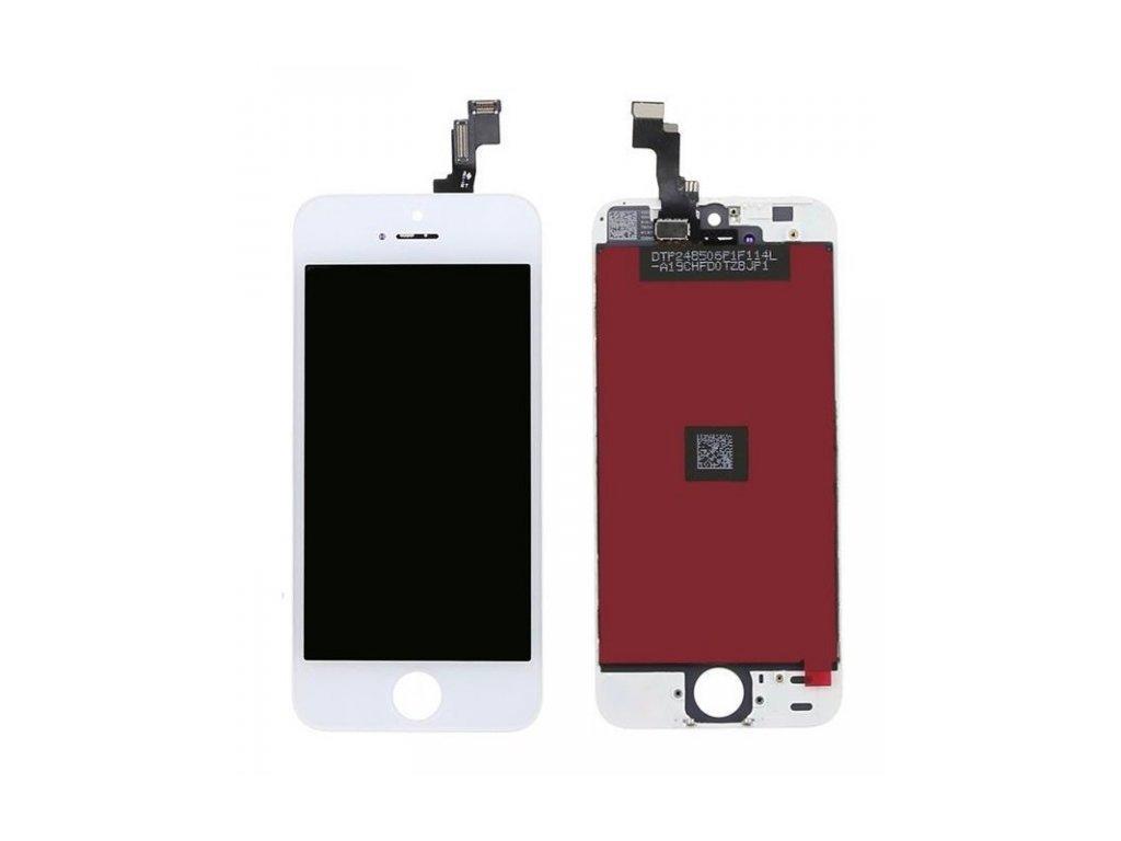 APPLE IPHONE 5S - LCD DISPLEJ A DOTYKOVÁ PLOCHA (BÍLÁ) - ORIGINÁL