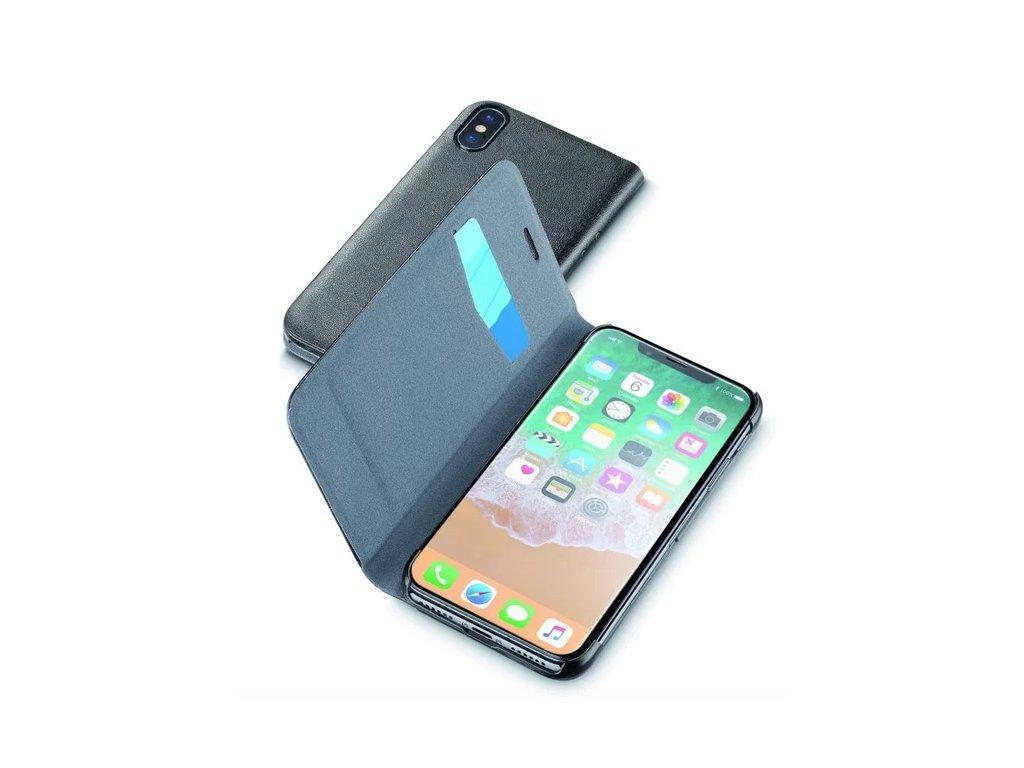 ellularLine Book Essential flip pouzdro Apple iPhone X černé
