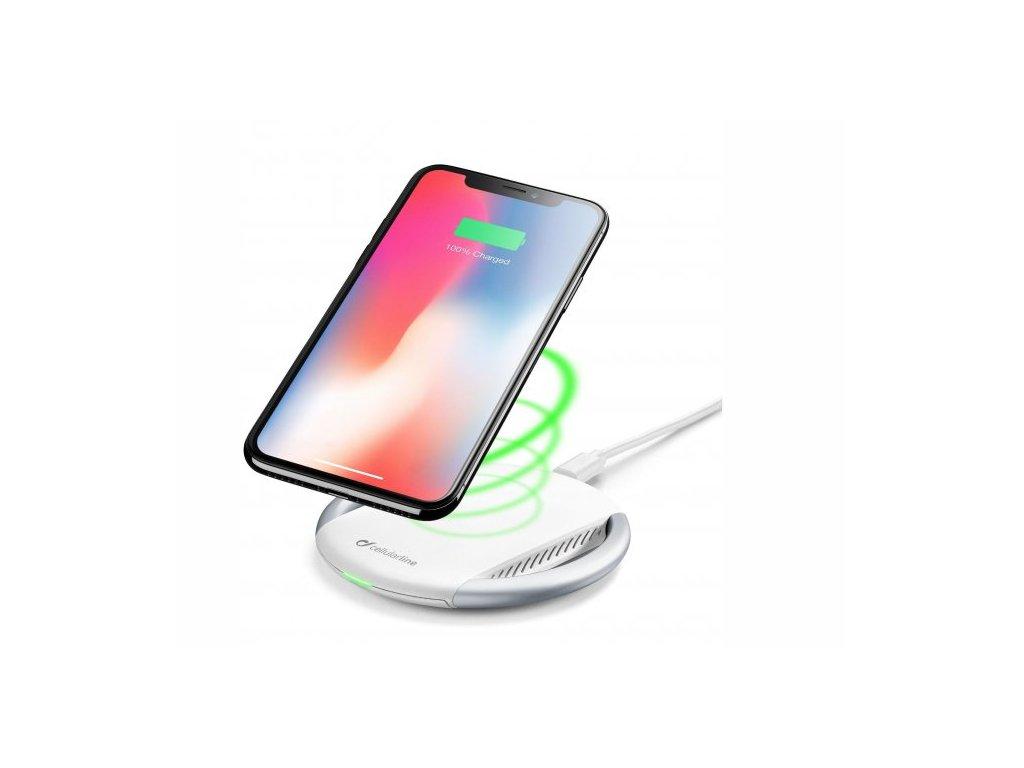 Cellularline Wirelesspad bezdrátová Qi nabíječka bílá