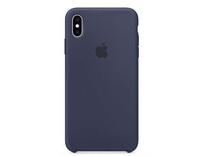 Kryt na mobil Apple Silicone Case pro iPhone XS Max - půlnočně modrý