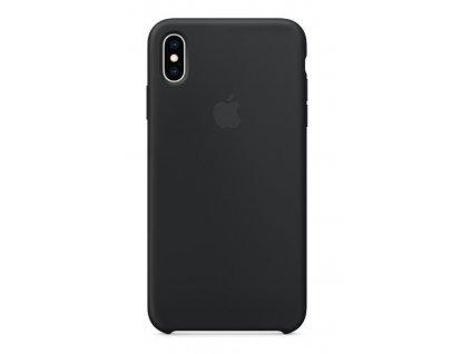 Kryt na mobil Apple Silicone Case pro iPhone XS Max černý