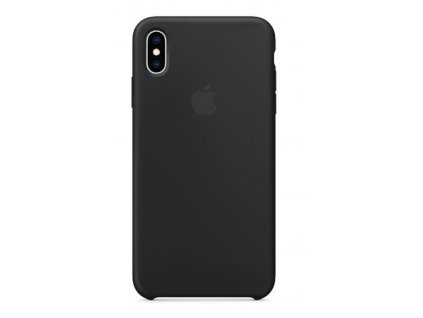 Kryt na mobil Apple Silicone Case pro iPhone XS Max černý