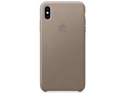 Kryt na mobil Apple Leather Case pro iPhone Xs Max - kouřový